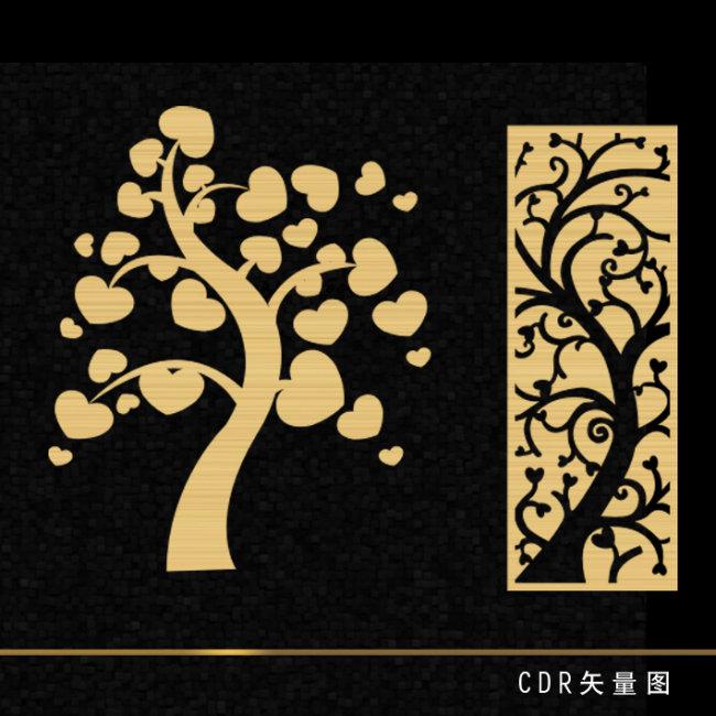 实木雕刻树叶图片