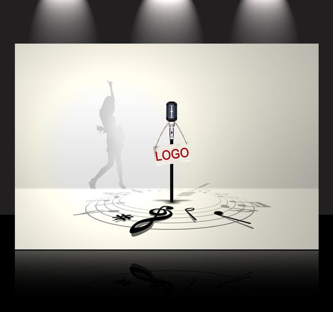 音乐海报背景模板
