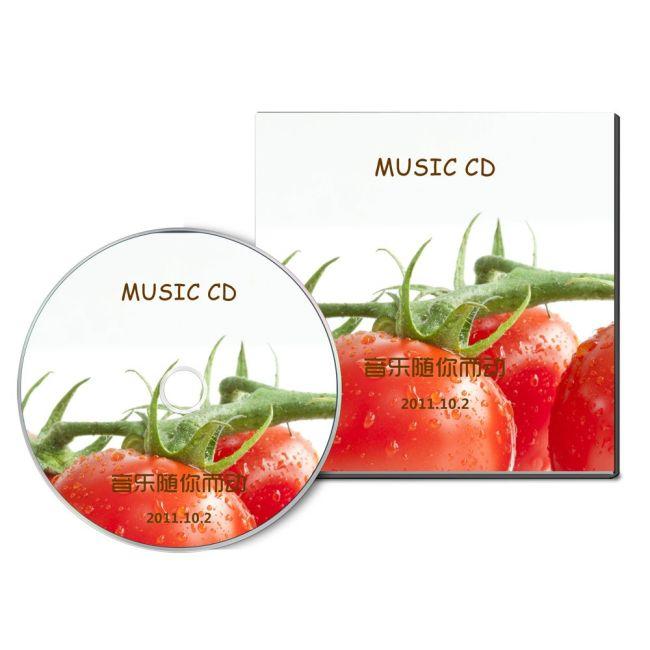 光盘封面设计水果类清爽类