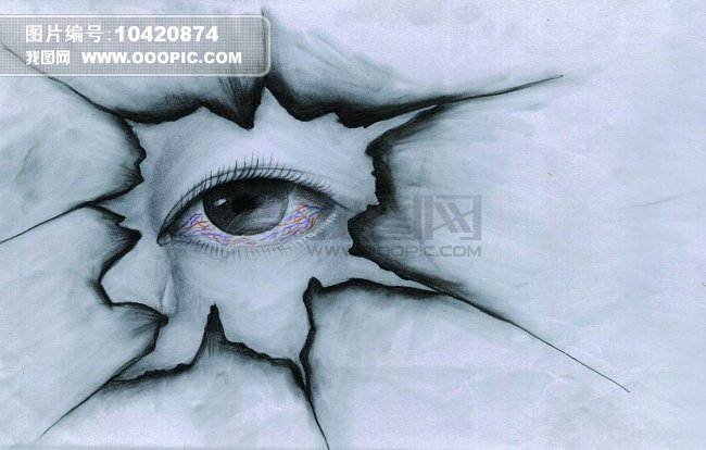 漫画手绘眼睛铅笔画