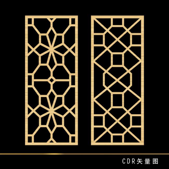 古代窗户边框简笔画