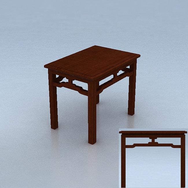 3d模型 室内设计3d模型 其他 > 中式长方型小茶几  下一张&gt
