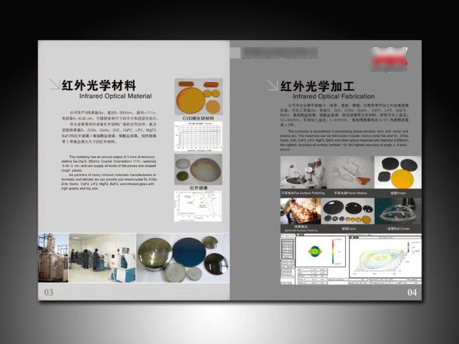 光电类企业宣传册画册内页版式设计