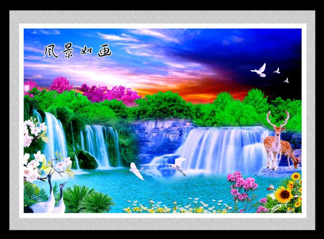 中国梦和画家乡的画