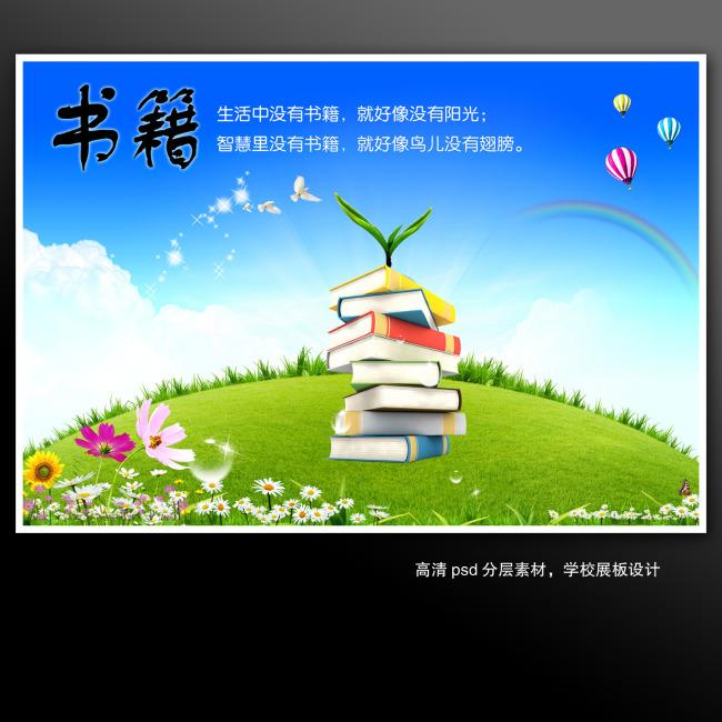 学校展板海报psd分层——书籍模板下载