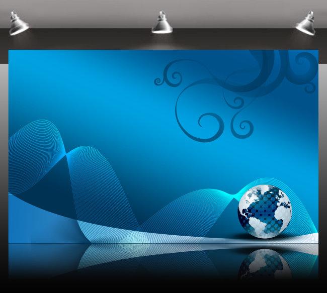 海报/[版权图片]蓝色背景海报模板海报背景图 海报