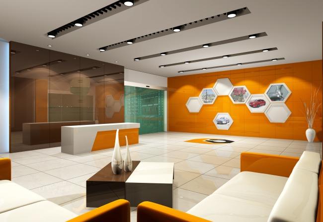 门厅效果图模板下载 门厅效果图图片下载 公司门厅 公司接待台 公司