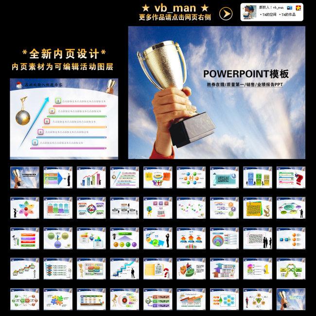 年终总结新年计划质量销售业绩报告ppt模板下载