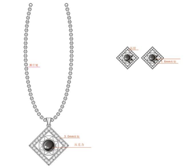首饰设计 珠宝 吊坠 耳环