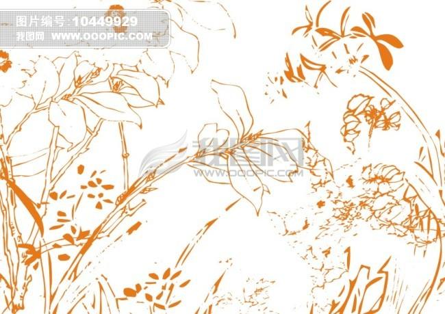 矢量 素材 绘画 白描画 素描画 手绘画 美术画 简笔画 钢笔画 线条画