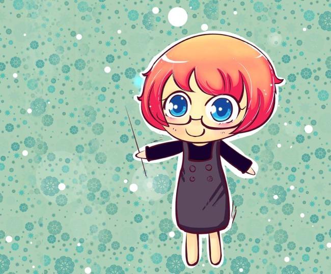 关键词: 卡通人物 可爱卡通女孩 卡通背景 大眼睛卡通女孩 插画素材