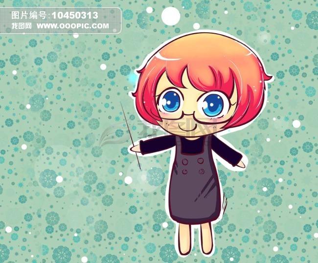 可爱卡通人物下载 卡通人物 可爱卡通女孩 卡通背景 大眼睛卡通