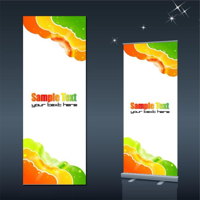 儿童节促销背景素材x展架下载模板下载