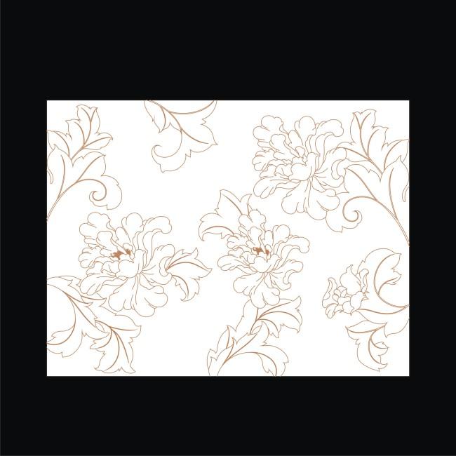 雕刻玻璃牡丹图案模板下载 10463707 雕刻图案 装饰画 背景墙图片
