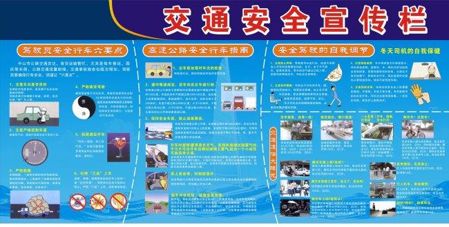 交通安全宣传栏模板下载
