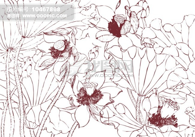 矢量 素材 白描画 素描画 手绘画 美术画 简笔画 钢笔画 线条画 美工