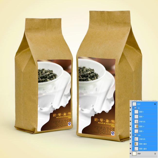 牛皮纸包装效果图模板