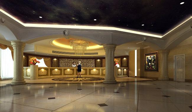 酒店大堂前台效果图模板下载 10470659 商业建筑 建筑