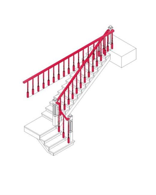 楼梯三维图模板下载 楼梯三维图图片下载深化图 三视图立体图 经典图