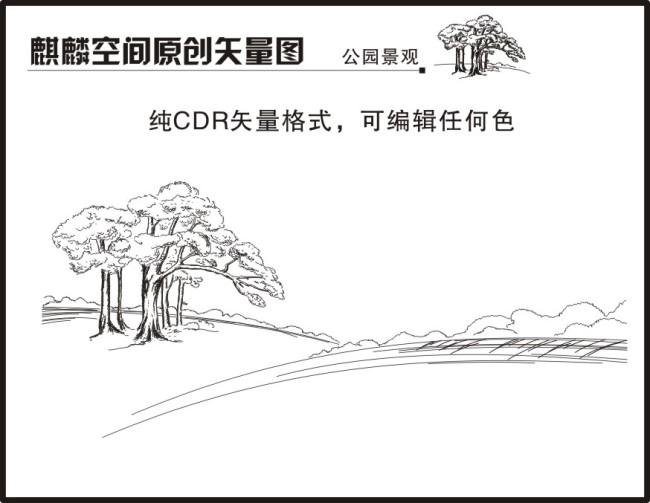 手绘插图 素描插图 手绘大树