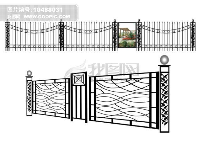 铁艺围栏设计图