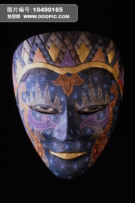 彩绘面具艺术图片素材 10490165 艺术品图片库