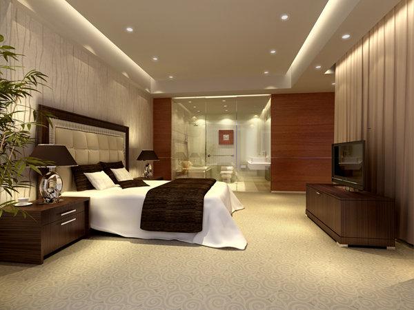 旅馆设计 房间装修 卧室设计 卧室装修 宾馆设计 宾馆效果图 卧室