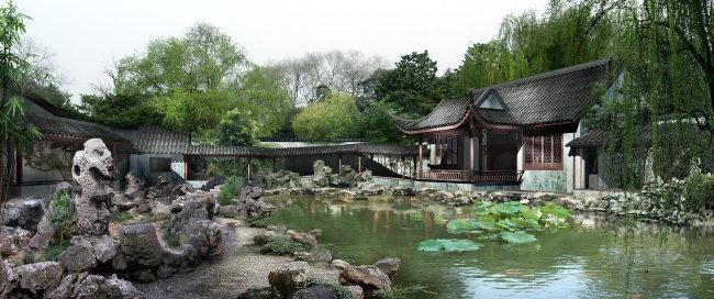 古典园林景观效果图