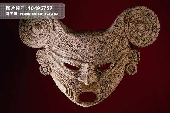 木雕彩绘面具