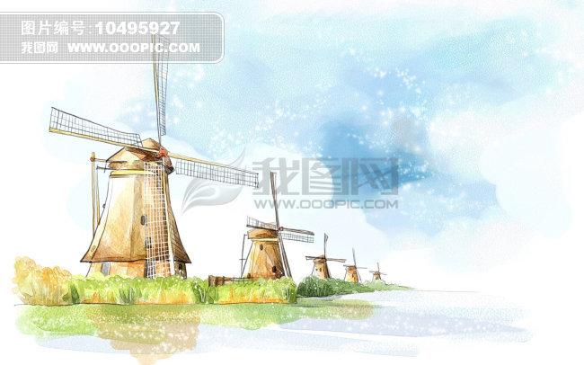 素描手绘风景图片