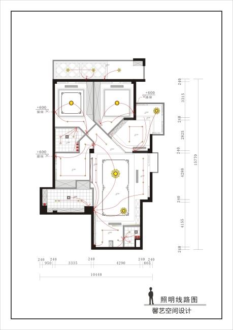 背景墙|装饰画 其他 室内设计 > 尚林苑803水电图  下一张&gt