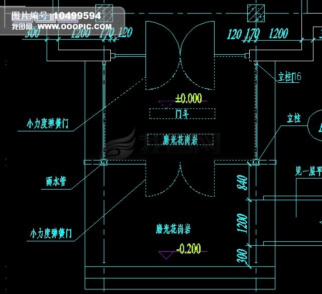 门斗平面图模板下载(图片编号:10499594)