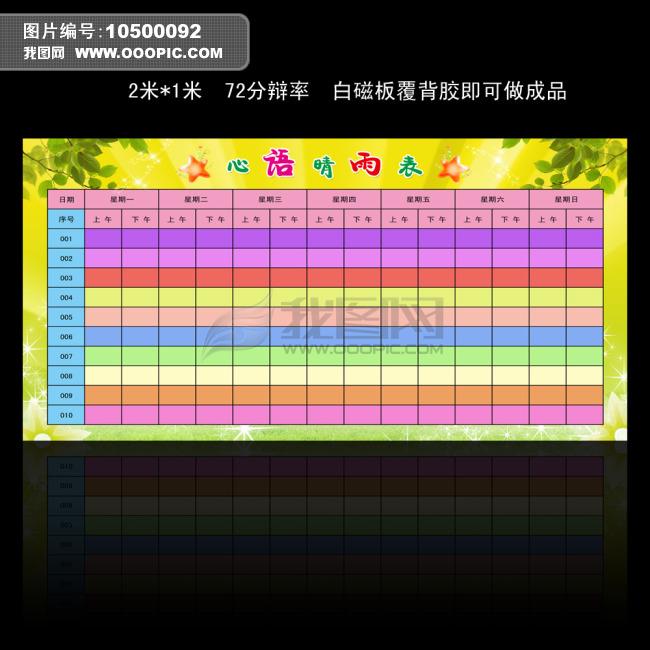 心情晴雨表模板下载(图片编号:10500092)_其他展板__.