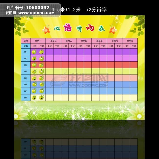 心情晴雨表模板下载(图片编号:10500092)_其他展板