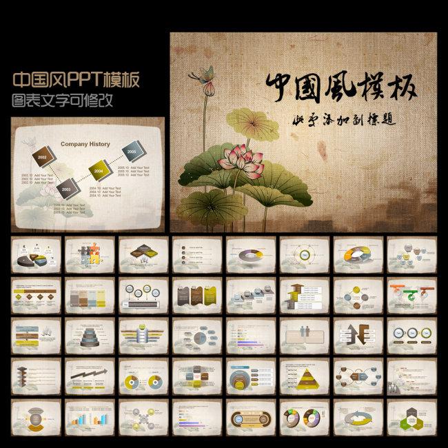 ppt 模板/[版权图片]中国风PPT模板