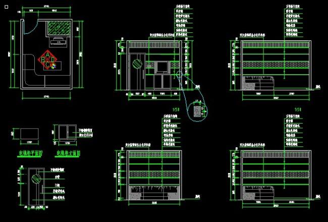 室内设计 cad图库 cad图纸 > ktv包房装修设计  下一张> [版