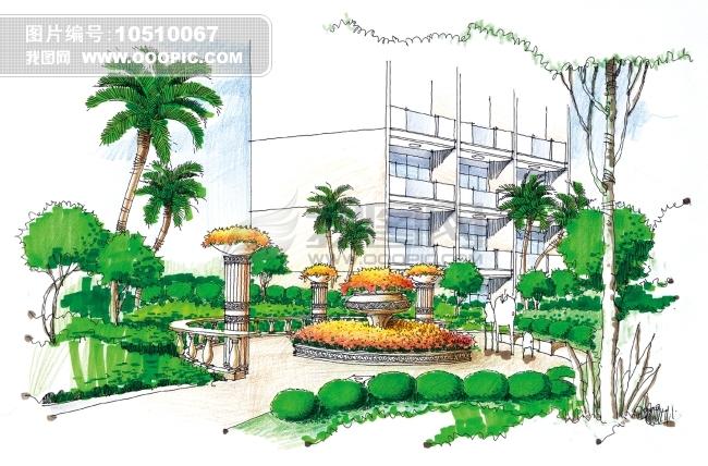 园林设计图整套手绘图展示