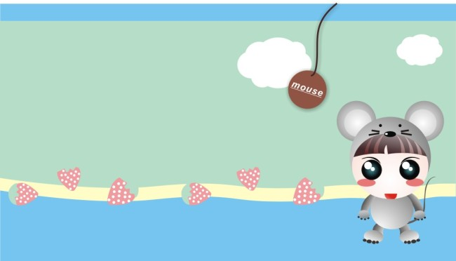 可爱的小老鼠 超萌 可爱的卡通图片