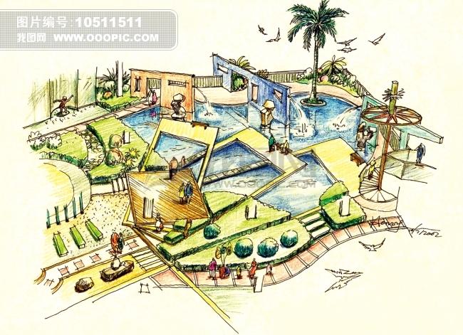 建筑手绘 建筑 绘画