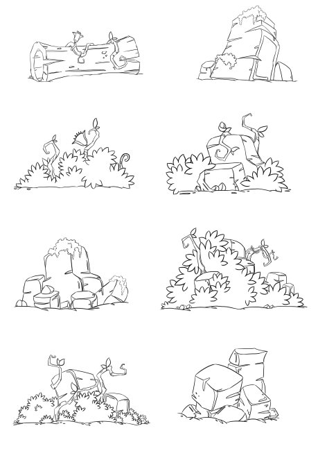 灌木丛平面图手绘