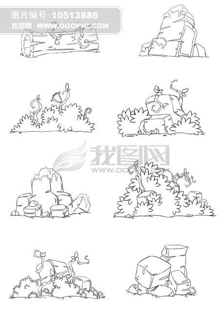 首页 正版设计稿 插画|素材|元素|卡通 原创素材 > 动画场景线稿