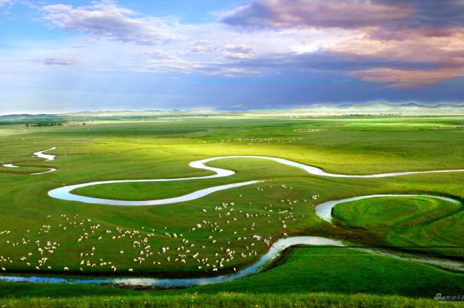 草原全景图片