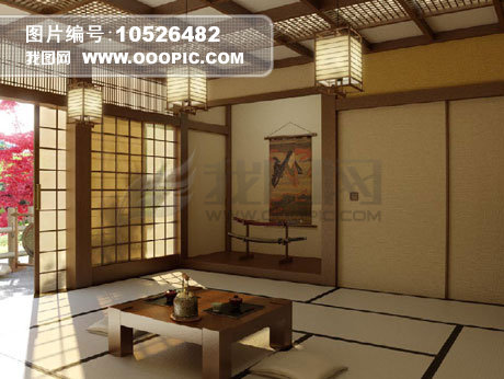 日本室内装饰风格3d模型模板下载