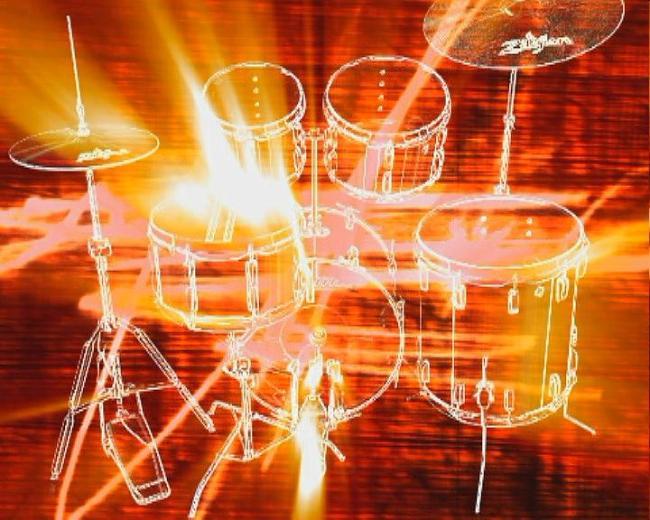 金色光芒架子鼓效果动态视频素材