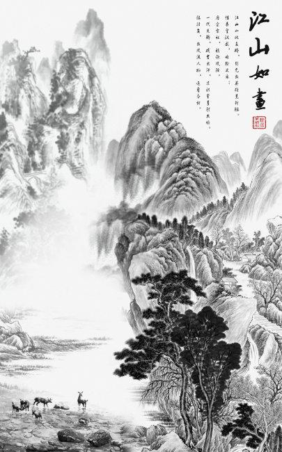 中国山水画模板下载(图片编号:10540779)_山水风景画