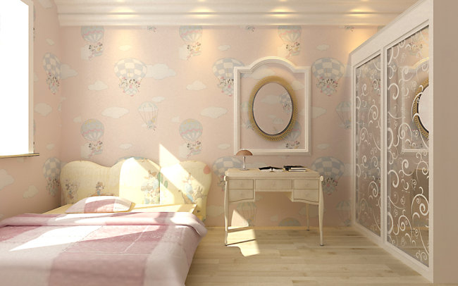 3d女孩子卧室效果图模版