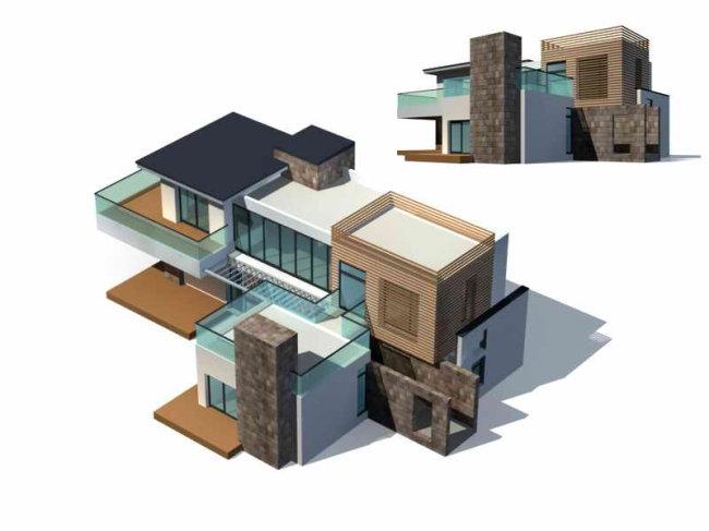 住宅设计 住宅模型 住宅图纸 别墅图纸 公寓设计 农村住宅 农村别墅