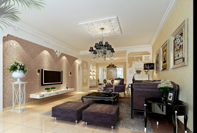 别墅设计豪华室内客厅设计模板下载(图片编号:)图片
