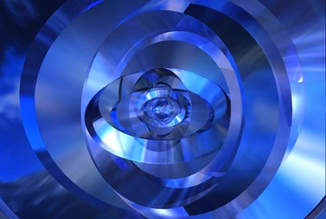 蓝色水晶圆形动态视频素材