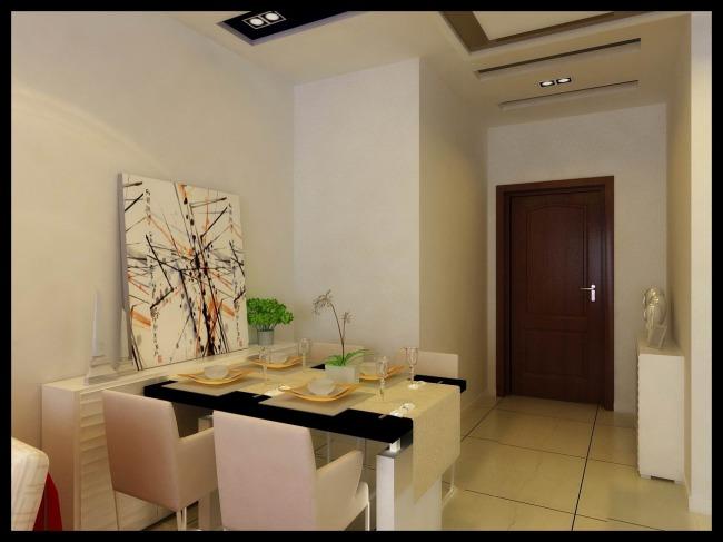 室内玄关,餐厅效果图